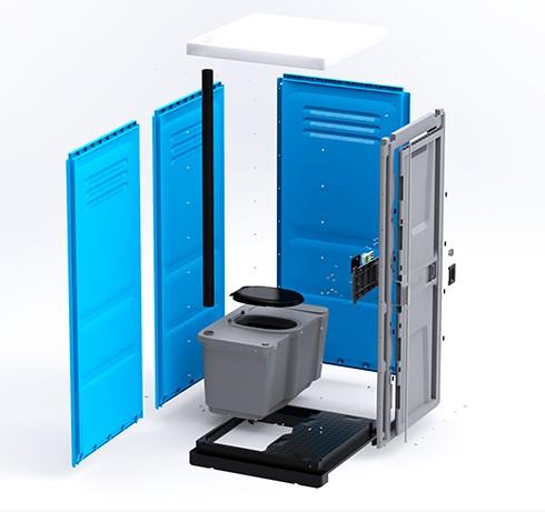 Туалетная кабина Lex Group Toypek, синяя фото 2