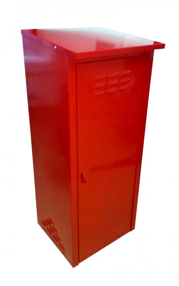 Шкаф для газовых баллонов на 1 баллон 50л (красный) фото 1