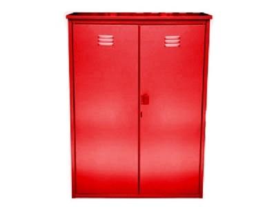 Шкаф для газовых баллонов на 2 баллона 50л (красный)