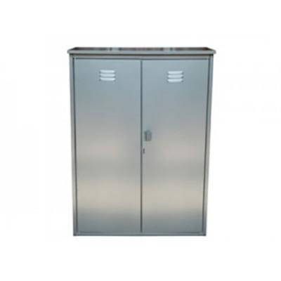 Шкаф для газовых баллонов на 2 баллона 50л (серый)
