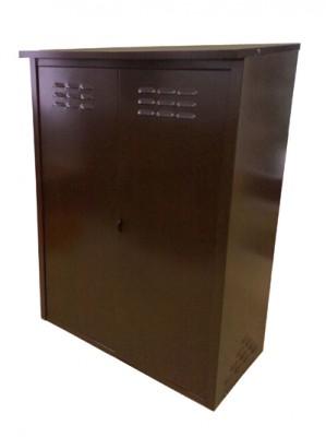 Шкаф для газовых баллонов на 2 баллона 50л (античная медь)