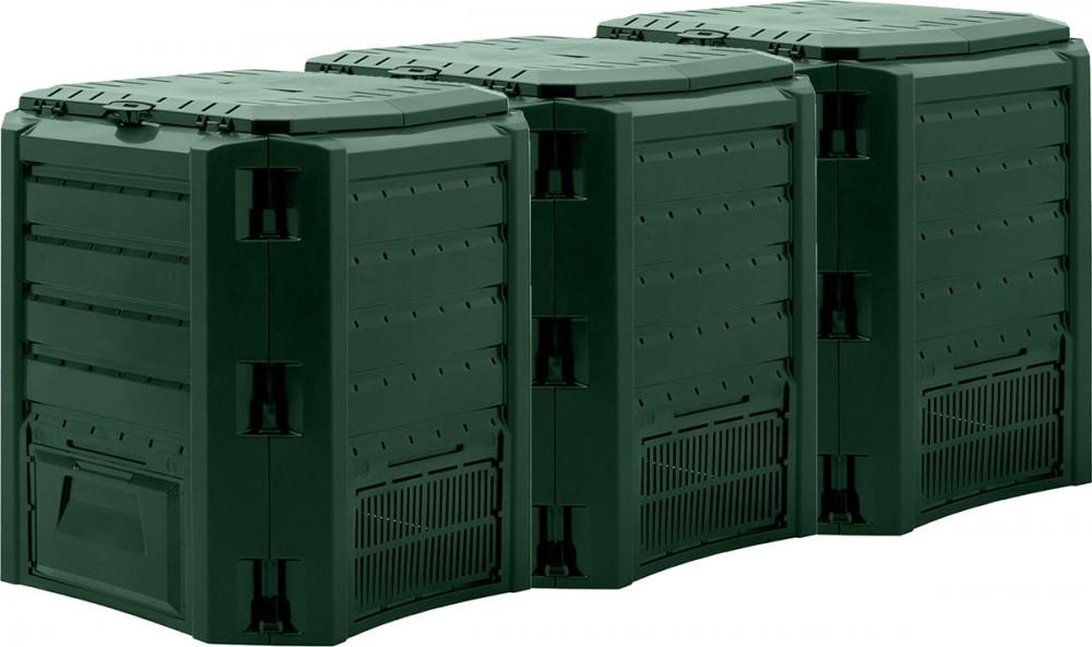 Садовый компостер Prosperplast Module Compogreen 1200л (зелёный) фото 1