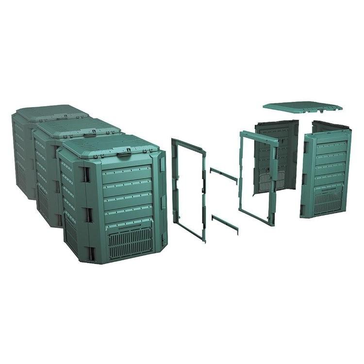 Садовый компостер Prosperplast Module Compogreen 1200л (зелёный) фото 2