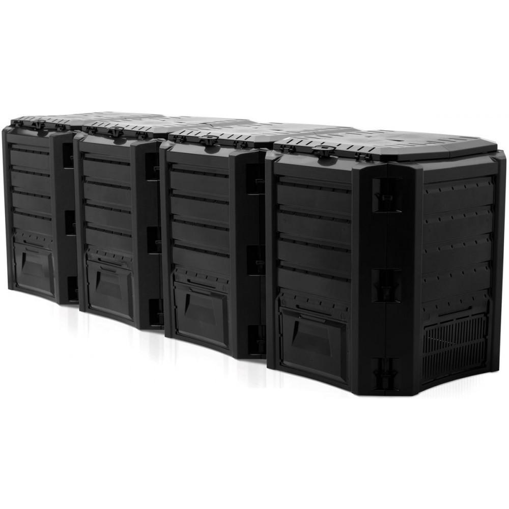 Садовый компостер Prosperplast Module Compogreen 1600л (чёрный) фото 1