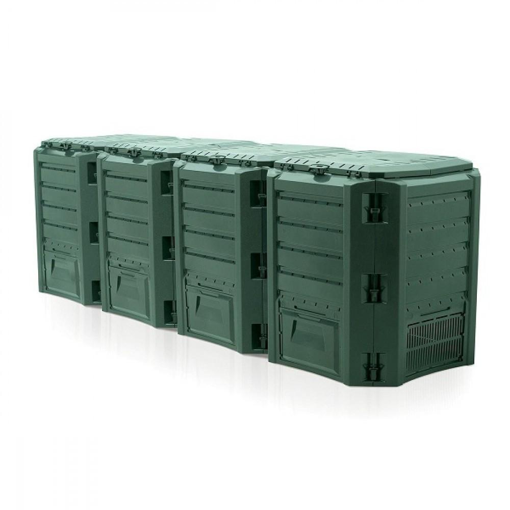 Садовый компостер Prosperplast Module Compogreen 1600л (зелёный) фото 1