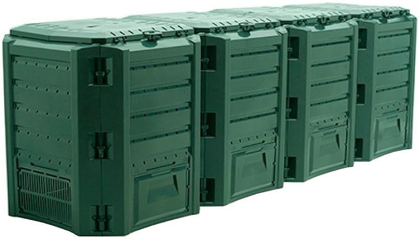 Садовый компостер Prosperplast Module Compogreen 1600л (зелёный) фото 2