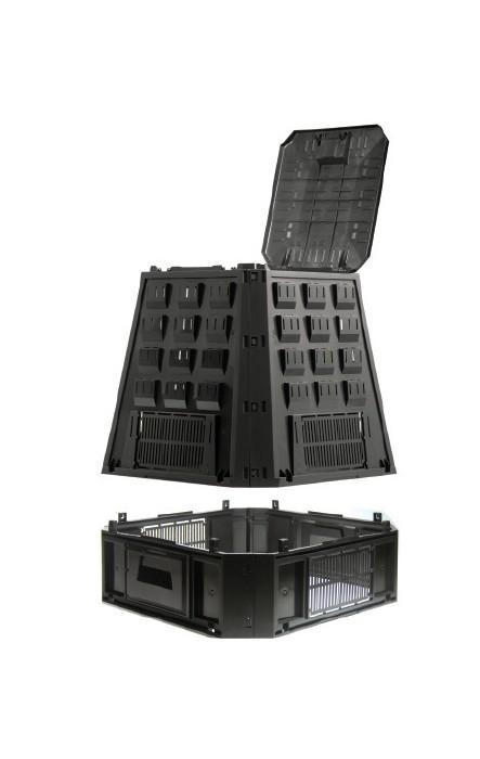 Садовый компостер Prosperplast Evogreen 630л (чёрный) фото 2