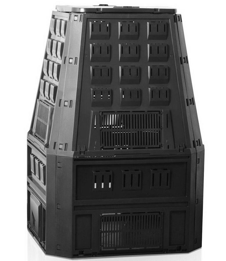 Садовый компостер Prosperplast Evogreen 850л (чёрный) фото 1