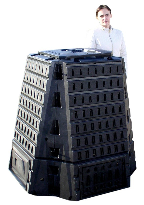 Садовый компостер Prosperplast Biocompo 900л (чёрный) фото 2